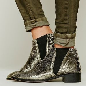 FREE PEOPLE - CENTINELA ANKLE BOOTS - METALLIC